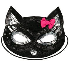 Embellished Mask - I wonder if she'd wear this??? Perfect for her black cat costume!