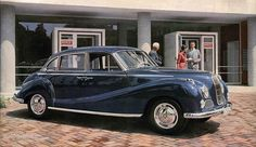 1952 BMW 501 \'El ángel barroco\' | Automóvil europeo | Pinterest