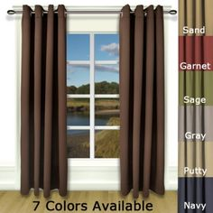 Ricardo Trading Ultimate Black-Out Grommet Single Panel Patio Door Curtains, Cool Curtains, Grommet Curtains, Patio Doors, Blackout Curtains, Curtain Panels, Contemporary Curtains, Thing 1, Bay Window