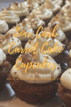 Low Carb Carrot Cake Cupcakes | A Firework in Progress