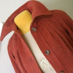 Gorgeous Vintage Cranberry Wool Coat by GraceWillVintage on Etsy, $68.00