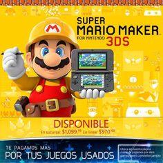 ¡Ahora vayas a donde vayas puedes crear y jugar en Mario Maker para 3DS! http://gameplanet.com/super-mario-maker-for-nintendo-3ds.html #ElectronicsStore