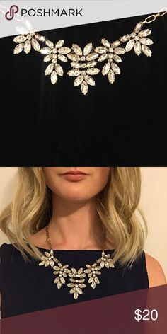 J Crew Statement Jeweled Necklace Gemstone & Antiqued Gold J. Crew Jewelry Necklaces