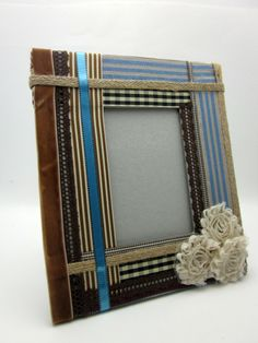 Ribbon Wrapped Picture Frame