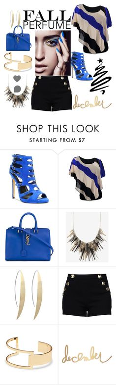 """beautifulhalo"" by crvenamalina ❤ liked on Polyvore featuring Yves Saint Laurent, Boutique Moschino and Sole Society"