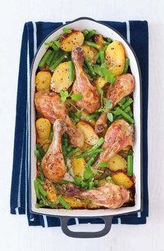 4 PL zakys smetany 2 PL hořčice 2 stroužky česneku, rozmělněné 150 ml slepič… Good Food, Yummy Food, Protein, New Menu, What To Cook, Turkey Recipes, Deli, Poultry, Green Beans