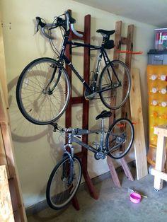 diy 2x4 bike rack google search garage garage bike. Black Bedroom Furniture Sets. Home Design Ideas