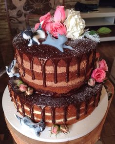 Naked Cake Naked, Desserts, Food, Cook, Recipes, Fiestas, Postres, Deserts, Hoods