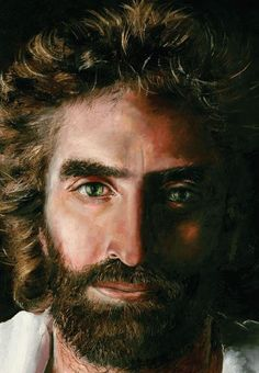 """Prince of Peace - by Akiane Kramarik...This image was painted by her when she was just 8 years old.   She was raised by a family of atheists.  She then had a supernatural experience where she was taken to heaven.  After, she painted this image of Jesus...Colton Burpo said this image is the closest likeness to Jesus he has come across.  He is the four year old who also experienced heaven.  The book """"Heaven is for Real"""" is written by his father about his experiences."""