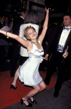 Drew Barrymore at the'Indiscretions' New York City premiere after party in 1995