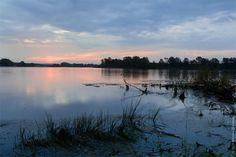 Sunrise on the lake. Landscape