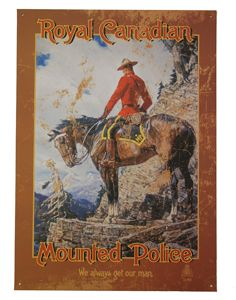 Check out the deal on The Sentinel Tin Sign at The Mountie Shop