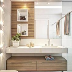 The bathroom with modern design is the perfect option for a contemporary home. Modern Master Bathroom, Modern Bathroom Design, Bathroom Interior Design, Small Bathroom, Bathroom Sink Decor, Bathroom Layout, Bathroom Storage, Ideas Baños, Bathroom Inspiration