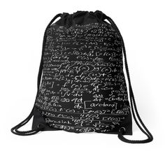 CALCULUS Drawstring Bag Backpack Knapsack School Carryall ($35) ❤ liked on Polyvore featuring bags, backpacks, polyester drawstring backpack, draw string backpack, polyester drawstring bag, patterned backpacks and drawstring bag