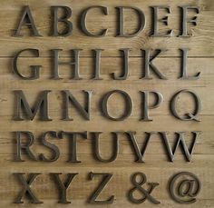 Love these decorative cast metal letters.