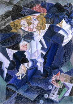 Gino Severini, Portrait of Madame M.S. 1915 (1913), Crayon on Canvas