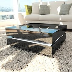 Buy Tiffany Black High Gloss Cubic LED Coffee Table from Furniture123 - the UK's leading online furniture and bed store
