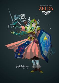 Princess in the North by evelmiina : Game of Thrones X Zelda #GoT #Zelda
