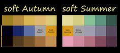 Soft Autumn parts with soft summer when it comes to yellows and browns...flowing more into Autumn