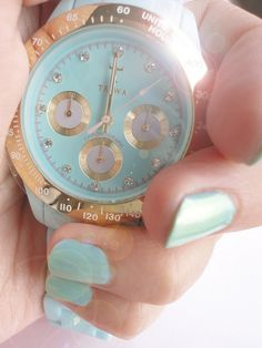 love the watch and the nails