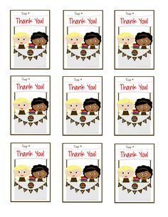 Girls Scouts - Brownies Thank You Cards - Cookie Booth