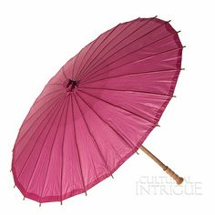 Cassis Pink 32 Inch Paper Parasol