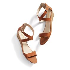 Stitch Fix Summer Styles: Cross-Strap Sandals -- perfect!