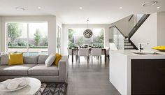 With a focus on open plan living, the Benham home design has 4 and 5 bedroom floor plans available. Contact us today to find out about Sydney house prices! Home Building Tips, Building A House, Rawson Homes, Narrow Lot House Plans, Interior Design Work, Bedroom Floor Plans, Open Plan Living, House Prices, Home Kitchens