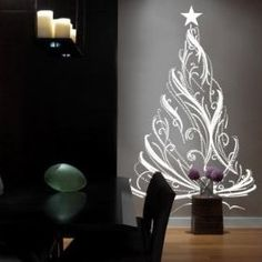 Christmas Tree sticker, Great idea for small spaces and hallway.
