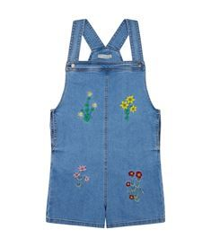 View the Edith Floral Embroidered Dungarees
