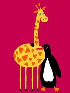 Giraffe en Pinguïn