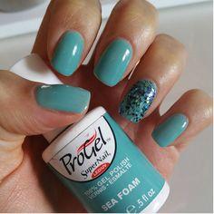 Sea Foam swatch; SuperNail Progel.    #progel #supernail #manicure #supernailprofessional
