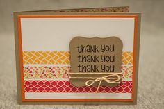 you, washi tape card.fun idea:)Thank you, washi tape card. Washi Tape Cards, Washi Tape Diy, Masking Tape, Duct Tape, Cute Cards, Diy Cards, Karten Diy, Card Sketches, Greeting Cards Handmade