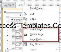 how to delete subform access 2016