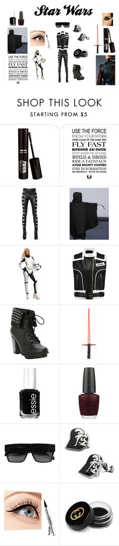 """Star Wars: The Force Awakening"" by inspiration-center ❤ liked on Polyvore featuring WALL, Yves Saint Laurent, Balmain, Essie, OPI, Luminess Air, Gucci and starwars"
