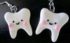 Tooth Earrings by thegreatvorelli on Etsy, $6.50 For her Tooth Fairy Role