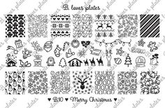 PREORDER! B. Loves Plates - B.10 - Merry Christmas ♥  Plate size: 9,5cm x 14,5cm Number of patterns: 40 Pattern size: 1,6cm / 1,7cm x 2,0cm / 2,1cm  !!! PREORDER !!! Shipping of this item will be on 2.12.! ♥