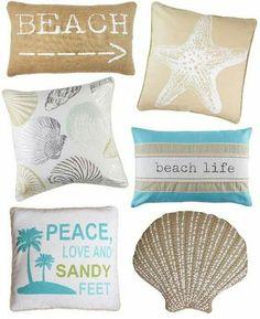 Coastel Beach House Throw Pillows