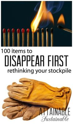 Think you're on top of your emergency preps? This list of 100 items to disappear first might give you some things to think about. Whether natural disaster or economic collapse, being prepared is key to survival. Doomsday Prepping, Survival Prepping, Survival Gear, Survival Skills, Survival Quotes, Survival Hacks, Survival Shelter, Survival Equipment, Survival Food List