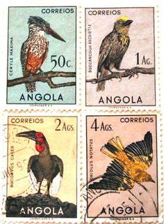 Angola Bird Stamps