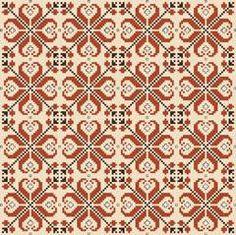 Traditional Bulgarian Motif l cross stitch Folk Embroidery, Cross Stitch Embroidery, Embroidery Patterns, Cross Stitch Borders, Cross Stitching, Cross Stitch Patterns, Blackwork, Chart Design, Tapestry Crochet
