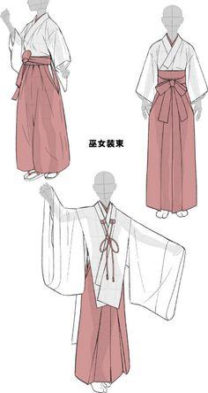 「着物をそれっぽく描くポイント」 | 摩...