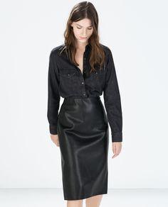 Leather Tube Skirt