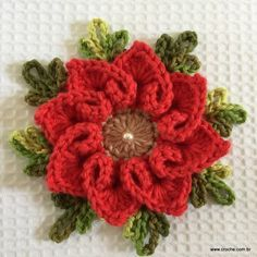 Flor coração passo a passo - Pattern not in English but Great photo tutorial Freeform Crochet, Crochet Motif, Crochet Doilies, Crochet Stitches, Crochet Flower Patterns, Crochet Designs, Crochet Flowers, Cute Crochet, Irish Crochet