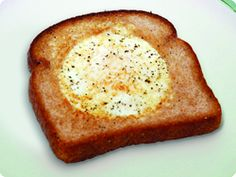 Safest Choice™ Sunny Face  My daughter & I love this receipe but we called it egg in the hole lol =D