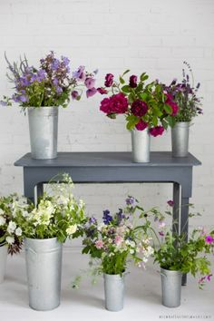 Lovely flowers, simle setting. From Decor8 blog.