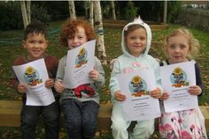 CHILDREN from a nursery school in Northampton have won first prize in their region in a charity sunflower growing competition run by a virtual garden centre (November, 2016).   www.potterandrest.co.uk...