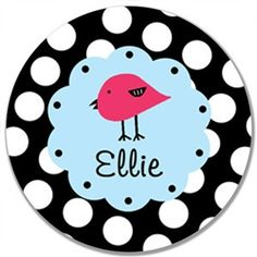 This design is offered on a melamine plate The blacke and white polka dot edge and hot pink chick design is perfect for birthday parties and everyday tableware! Palmetto Tree, Plate Design, To My Daughter, Daughters, Hot Pink, Decorative Plates, Polka Dots, Birthday Parties, Black And White