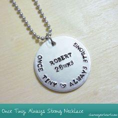Preemie Necklace - I heart it. #preemies #preemiepower
