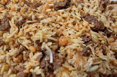 Arroz Arabe- Arabic rice b•cooks Cookbook page